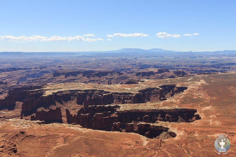 Der Krater ist vom Buck Canyon Viewpoint sichtbar