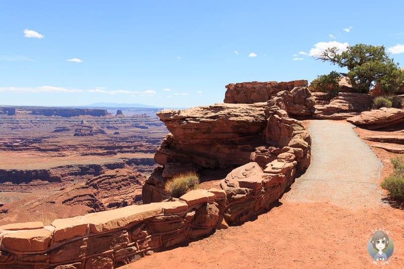 Weg zur Aussichtsplattform am Dead Horse Point