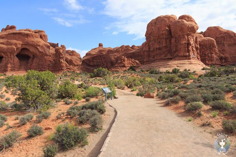Der Wanderweg zum Double Arch