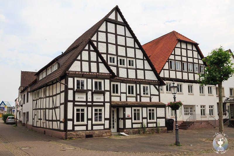 Ein Fachwerkhaus an der Weserstrasse in Beverungen