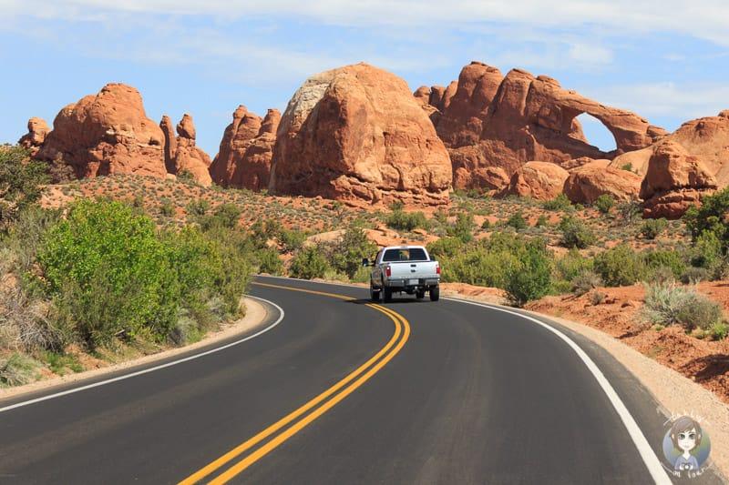 Fahrt durch den Arches National Park