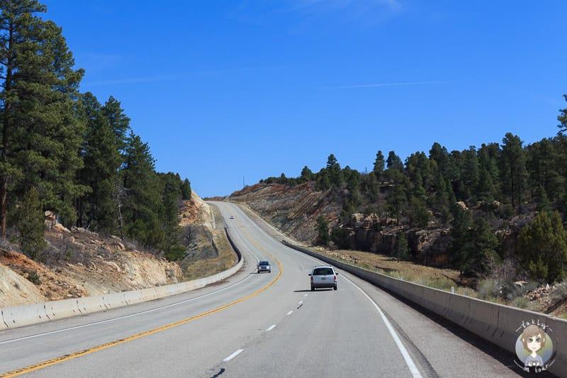 Auf dem Highway Richtung Moab