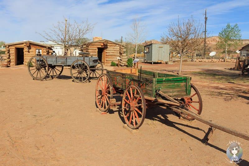 Holzkarren in der Bluff Fort Historic Site