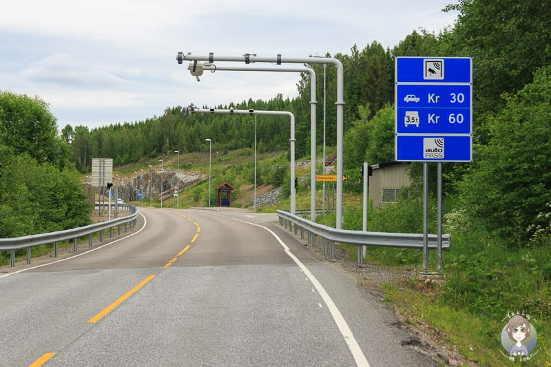 Maut in Norwegen: Eine automatische Mautstation in Norwegen