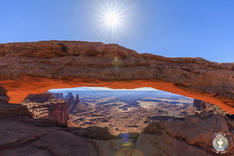 Der Mesa Arch im Canyonlands National Park Arizona