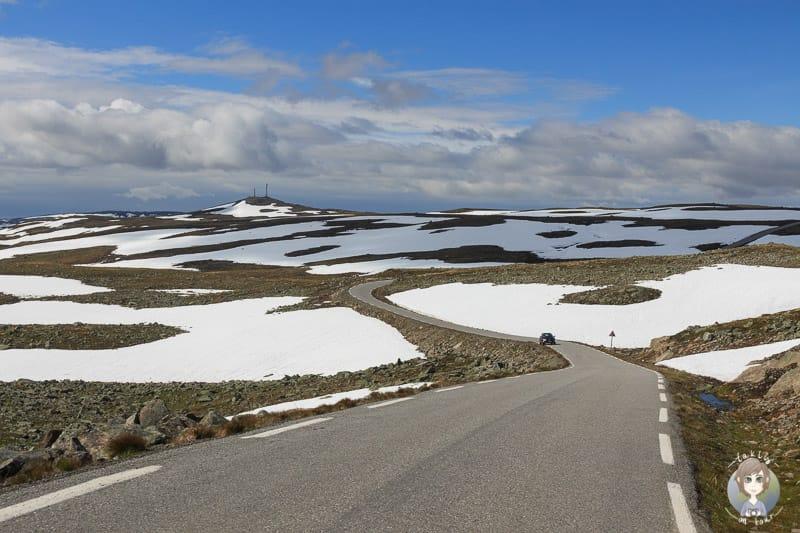 Schnee im Norwegen Urlaub mit dem Wohnmobil