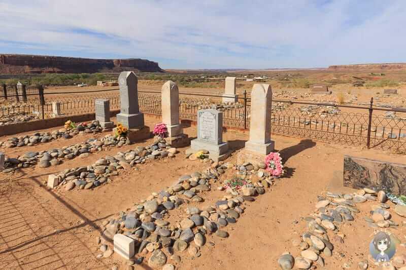 Ein Pionierfriedhof in Bluff