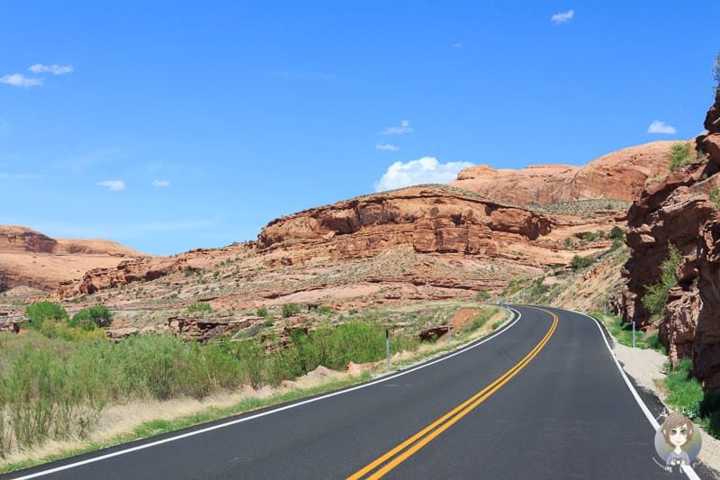 UT-128 der Scenic Byway bei Moab