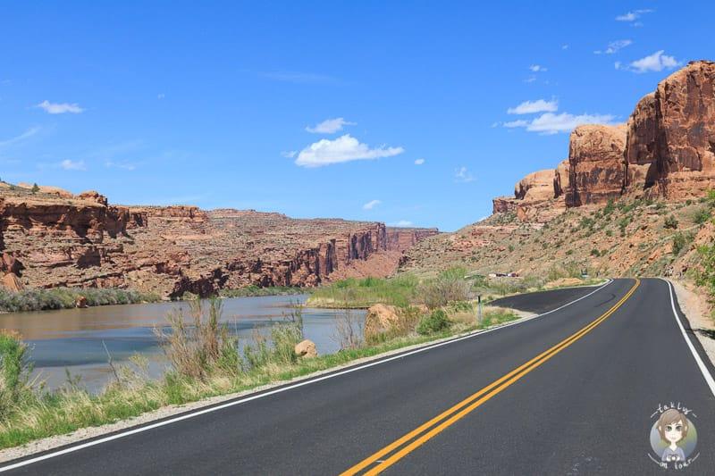 Schöne Scenic Route nahe Moab