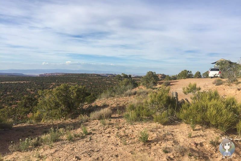 Schöner Stellplatz auf dem Cowboy Camp Campground nahe Moab