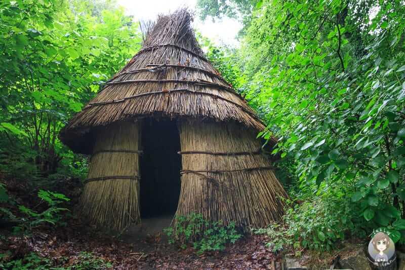 Eine Steinzeithütte im Freilichtmuseum Oerlinghausen
