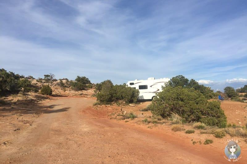 Unser Stellplatz auf der Cowboy Camp Camping Area