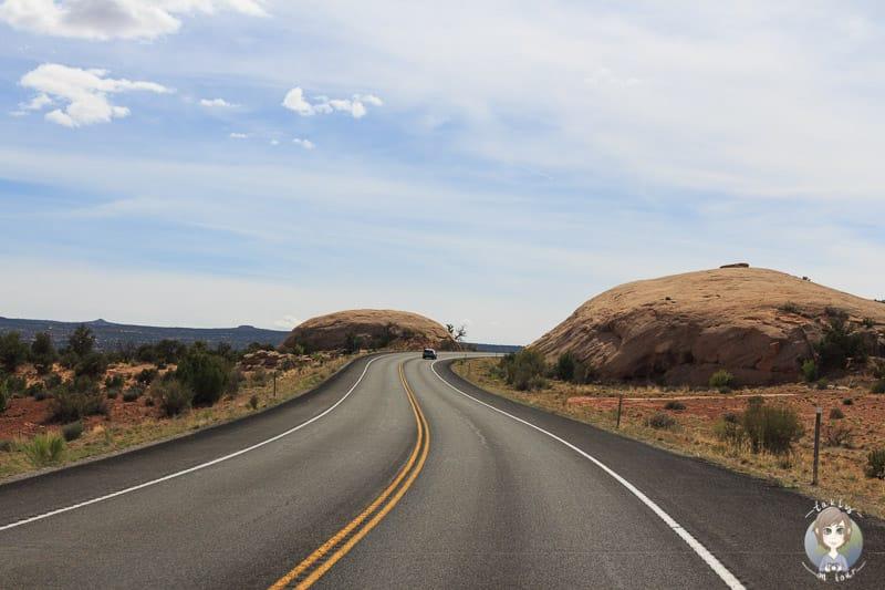 Die Straße Richtung Canyonlands National Park