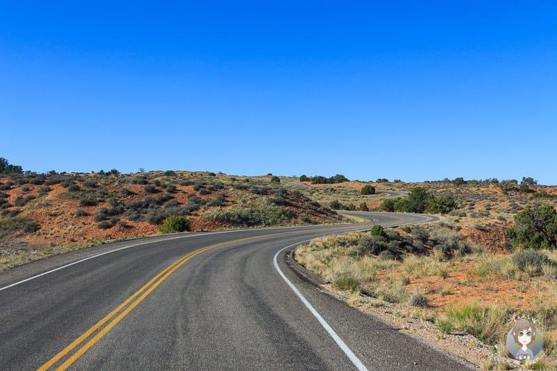 Anfahrt zum Mesa Arch im Canyonlands National Park