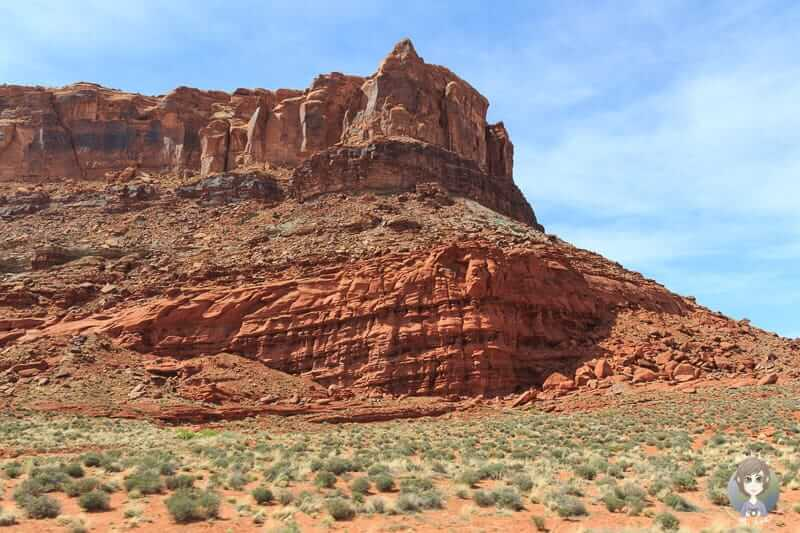 Aussicht auf der Fahrt Richtung Canyonlands National Park