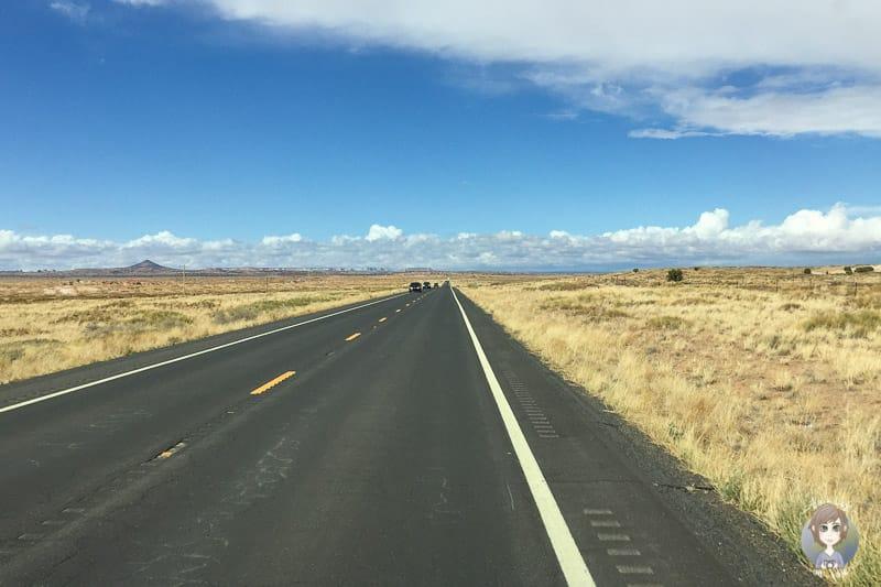 Blauer Himmel auf dem Highway 160