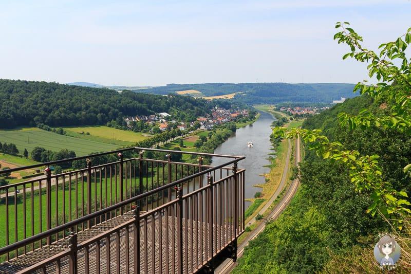 Eine Wanderung im Weserbergland zum Weser - Skywalk in Würgassen, Beverungen