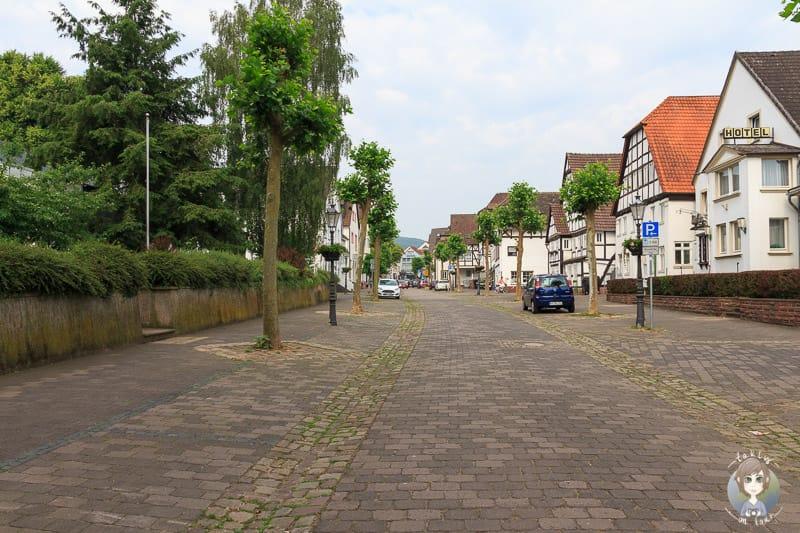 Die Weserstrasse in Beverungen