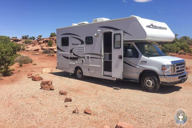 Unser Fahrzeug auf einer Reise mit Kleinkind im Wohnmobil durch die USA