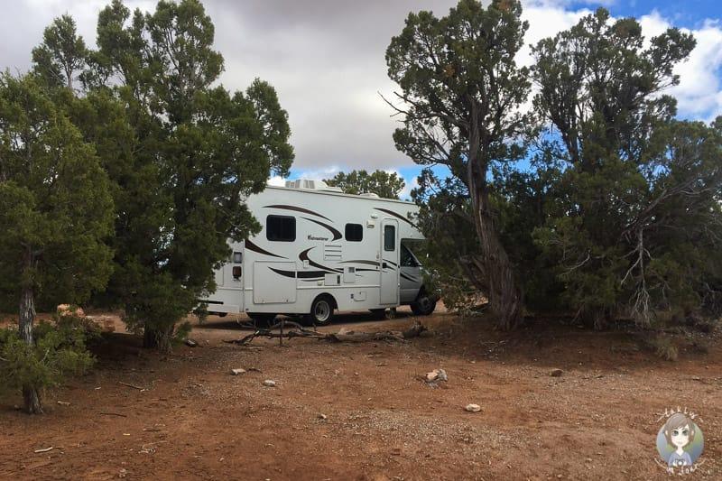 Mit dem Wohnmobil auf dem Canyon View Campground