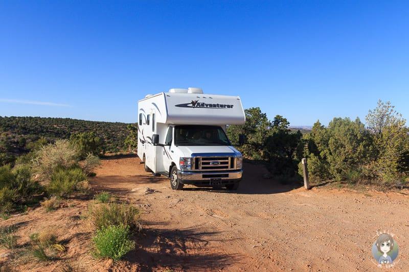 Mit dem Wohnmobil auf dem Cowboy Camp in Arizona