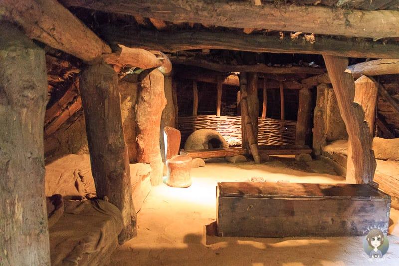 Teil des Wohnstallhauses aus der Bronzezeit von Innen