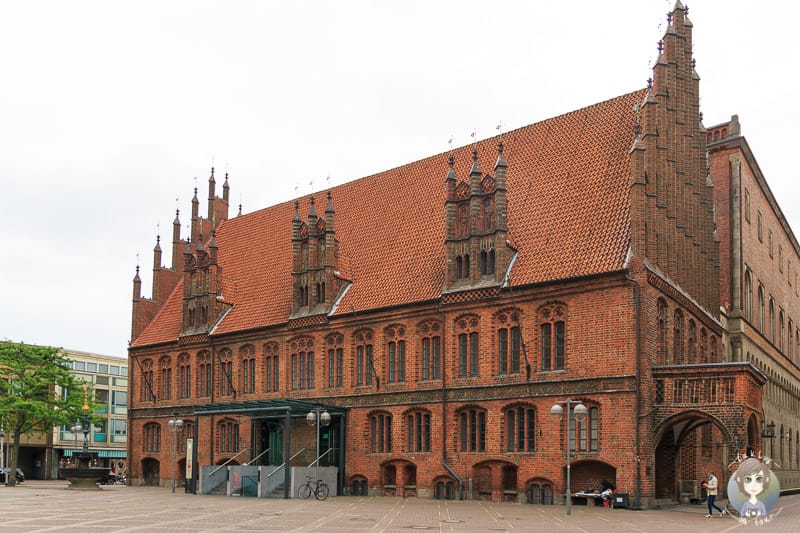 Roter Backsteinbau, das Alte Rathaus Hannover