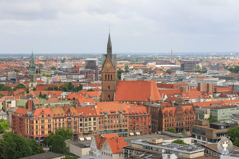 Aussicht auf Hannover vom Neuen Rathaus