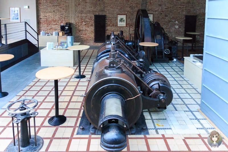 Eine alte Dampfmaschine aus dem Bahlsenwerk