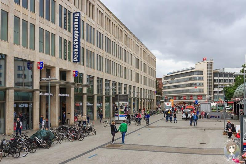 Die Georgstrasse in Hannovers Innenstadt