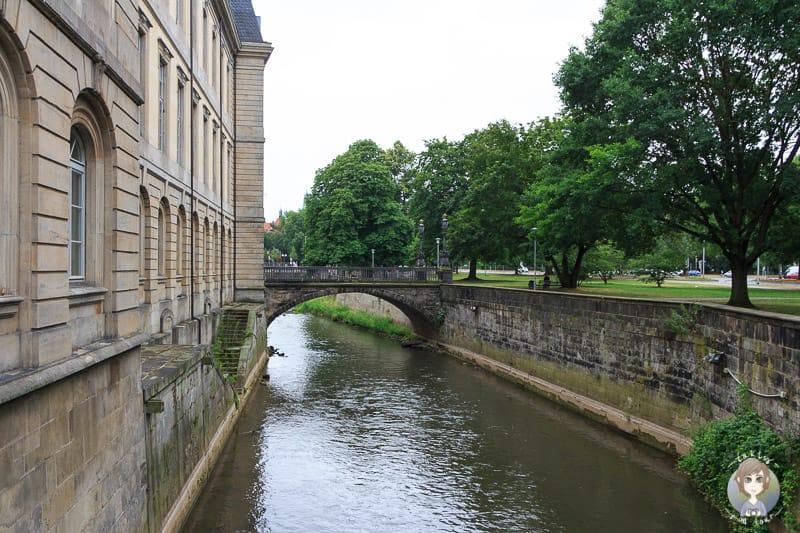 Blick auf die Leine vom Leibnizufer in Hannover