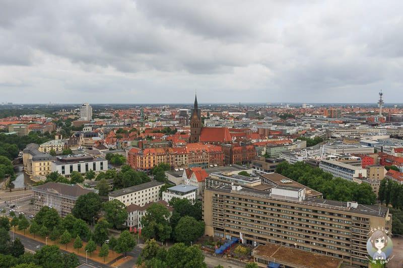 Blick auf die Stadt vom Neuen Rathaus Hannover