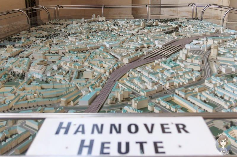 Stadtmodell im Hannoveraner Rathaus