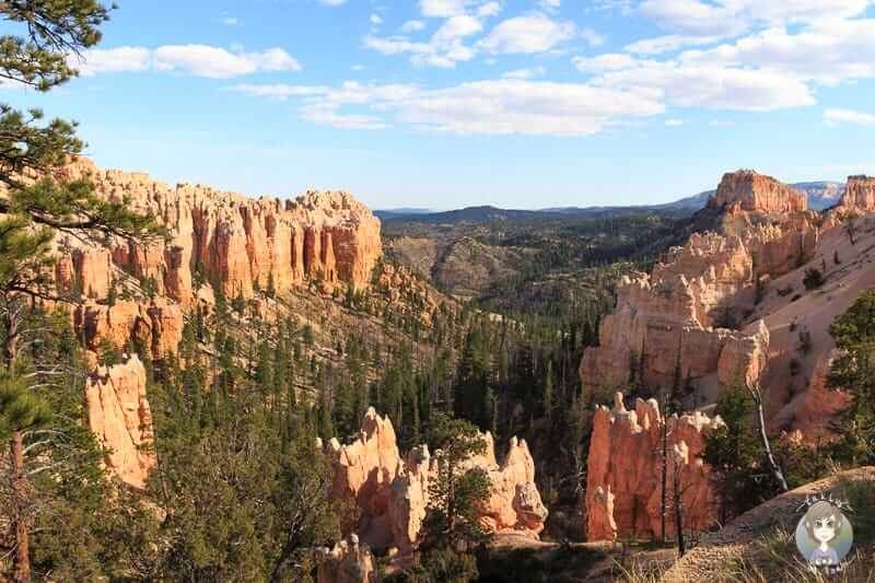 Aussicht während der Fahrt auf den Bryce Canyon