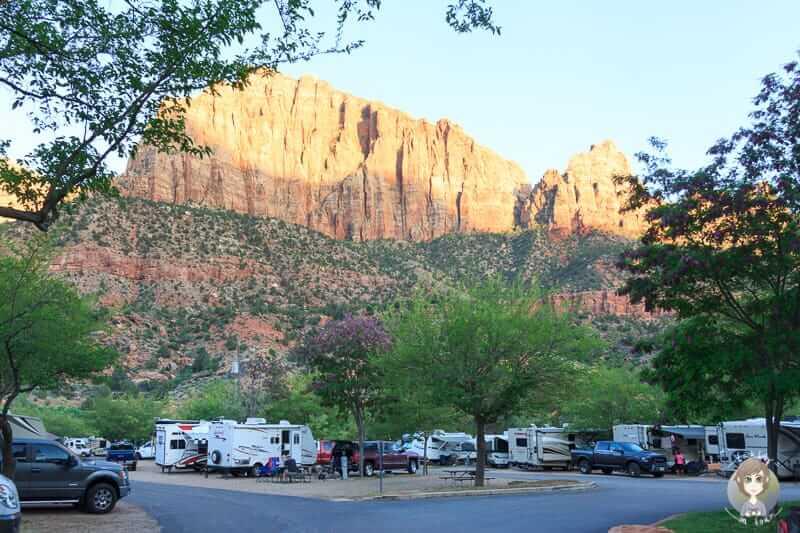 Dicht an dicht auf dem Zion Canyon Campground
