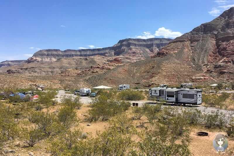 Die Campingplatz Virgin River Canyon Recreation Area
