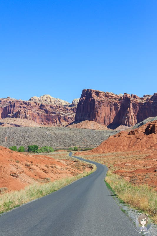 Strecke durch den Capitol Reef National Park