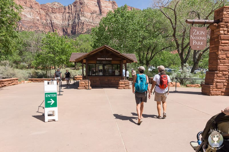 Die Entrance Station im Zion National Park