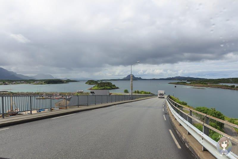 Auf der Fahrt durch Brønnøysund