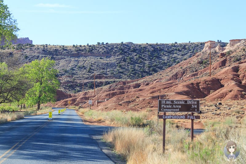 Informationen zum Campground im Fruita Valley