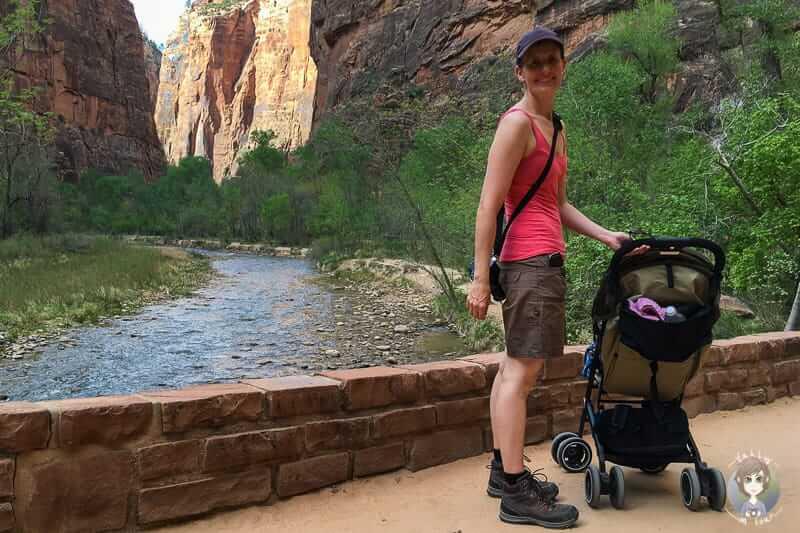 Wanderung im Zion National Park mit Kind