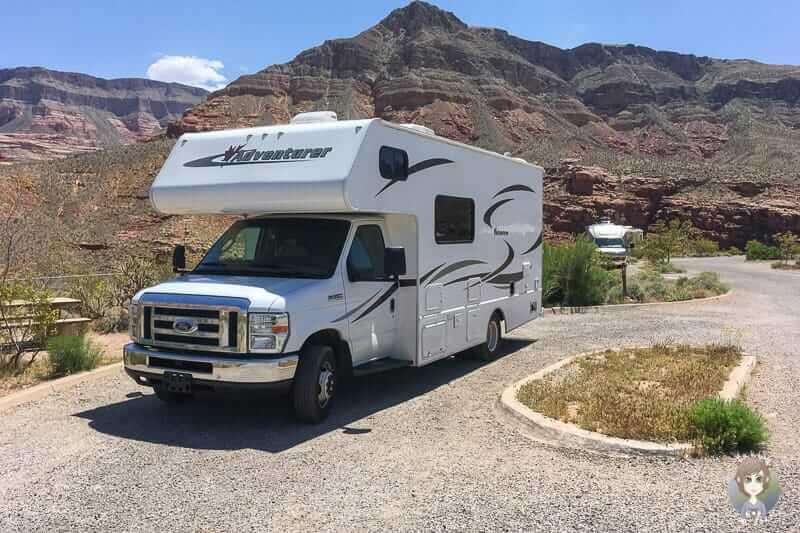 Mit dem Wohnmobil auf dem Virgin River Canyon Campground