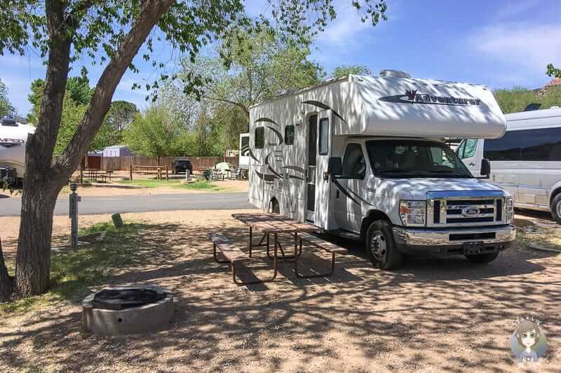 Auf dem Zion Canyon Campground