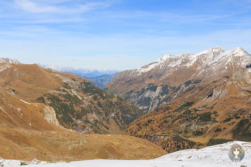 Blick auf die Bergwelt im National Park Hohe Tauern