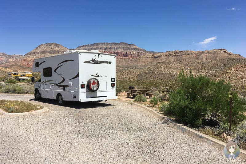 Camping auf dem Virgin River Canyon Campground Arizona