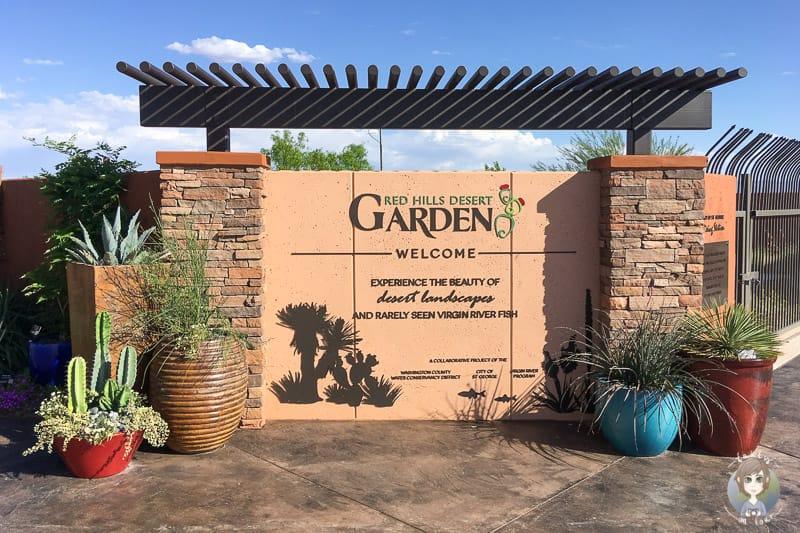 Der Eingang des Red Hills Desert Garden Parks