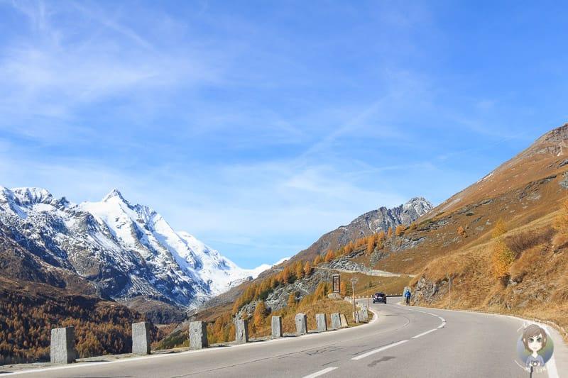 Auf der Fahrt Richtung Kaiser-Franz-Josefs-Höhe
