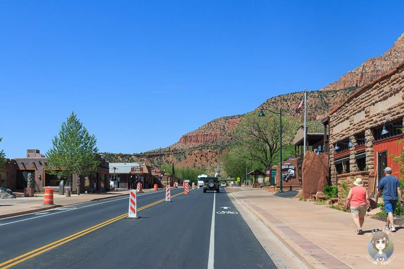 Die Hauptstrasse von Springdale, Arizona
