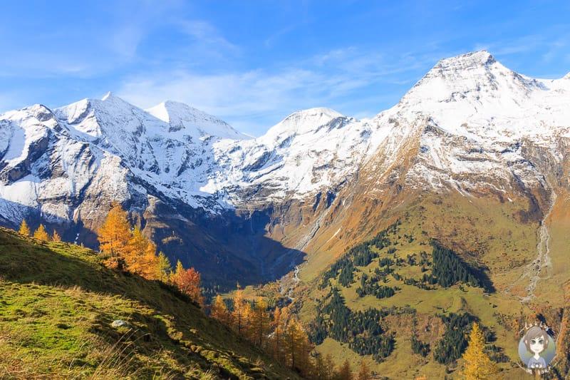 Ausblick von der Grossglockner Hochalpenstrasse im Nationalpark Hohe Tauern