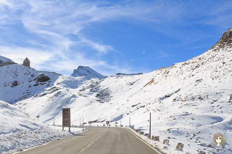Fahrt durch den Nationalpark Hohe Tauern im Schnee